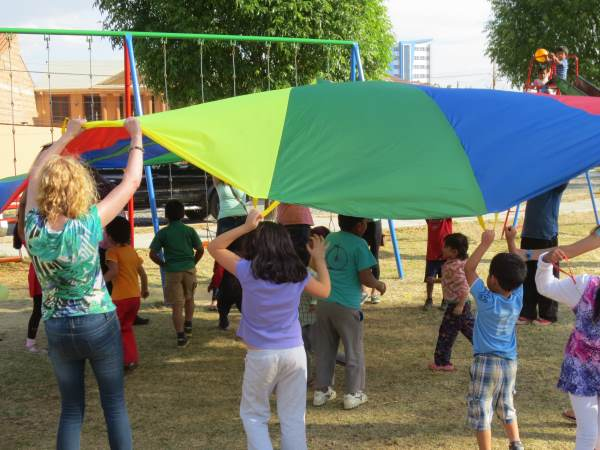 Playing parachute games