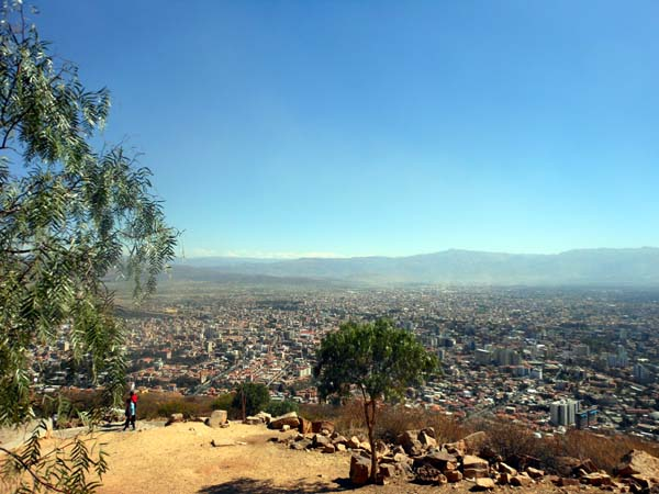 View of Cochabamba from a hill