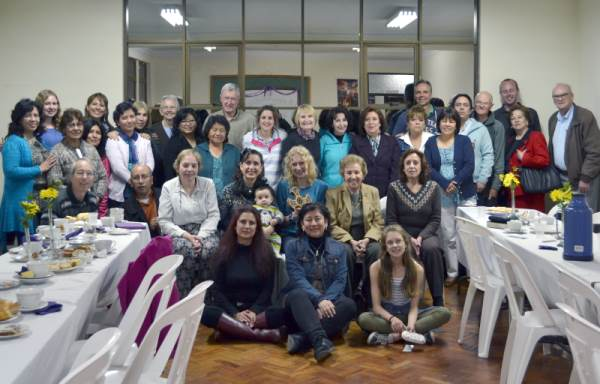 The Cristo Redentor women's group with Christ Church team members