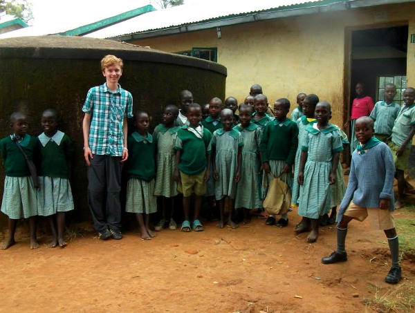Jack at a school in Kenya