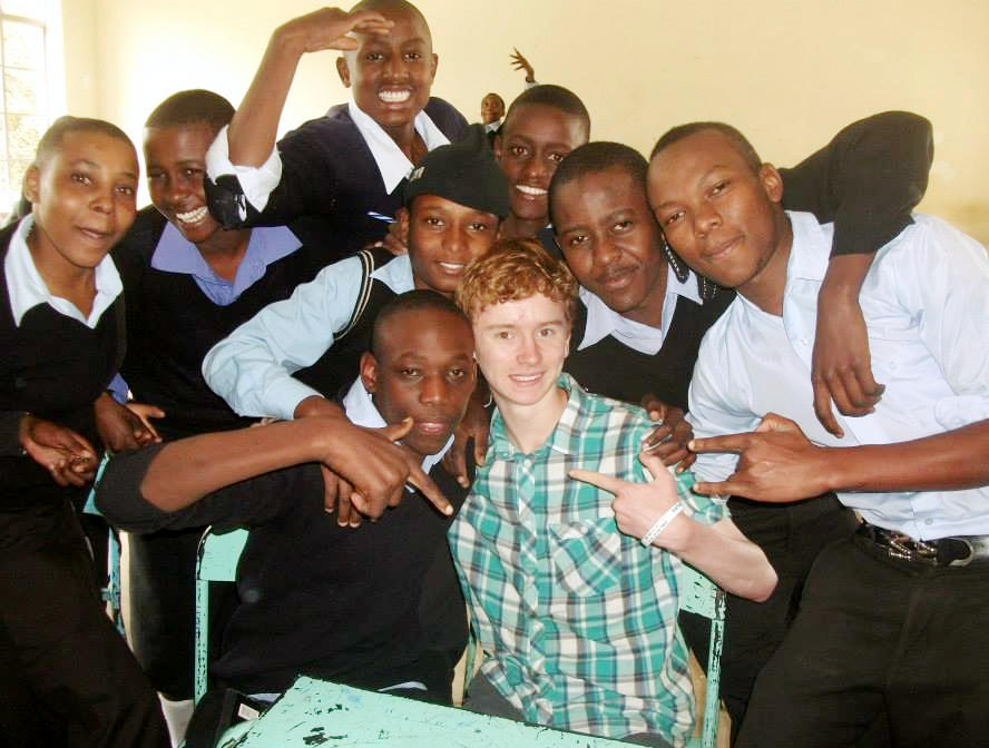Jack in an African secondary school
