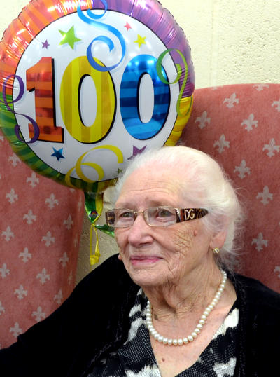 Daisy Glenn at her 100th birthday party