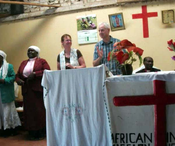 Cathie and Allan at the African Interior Church