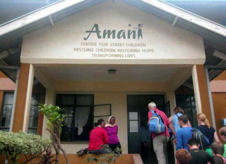 Arriving at Amani Children's Home