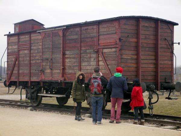 Cattle wagon at Auschwitz II