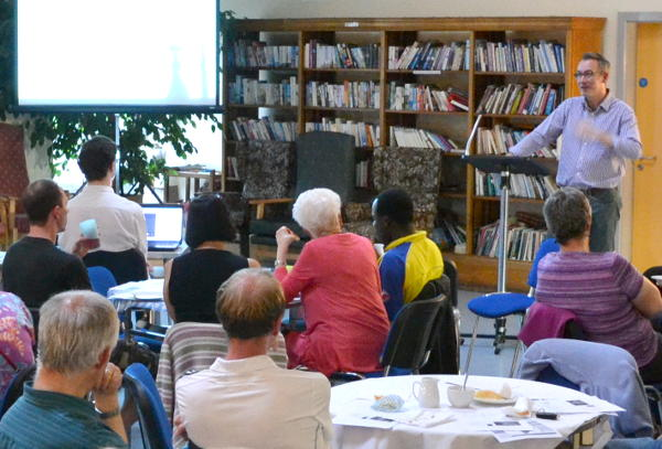 Richard Sudworth leads the discussion at Cafe Church