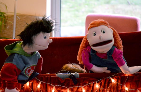 Puppets Bert and Lucy