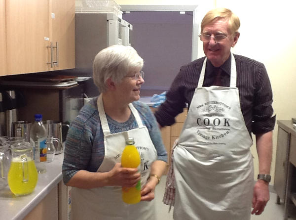 Beryl and Phil Ennis in the Christ Church kitchen