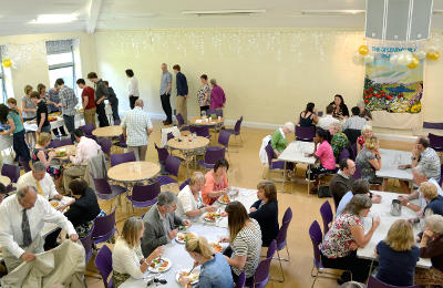 Guests at the welcome lunch for Megan