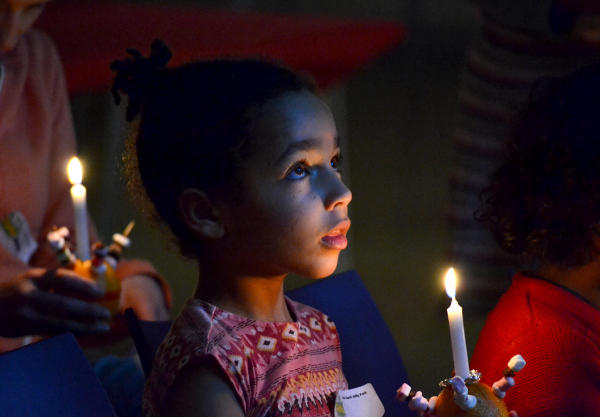 A Christingle celebration at Christ Church