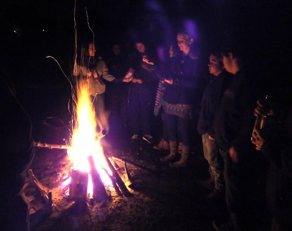 A bonfire at the 2014 Nexus Weekend Away