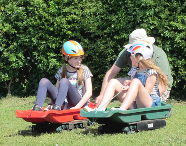 Grass sledging at Blackwell Adventure
