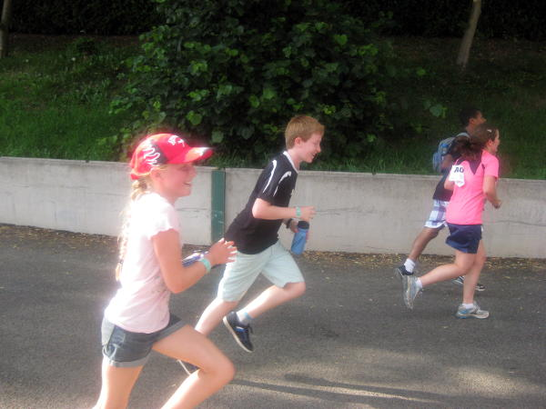 Young runners in a race