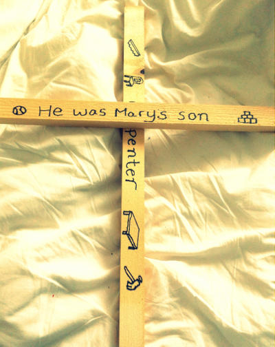 Pieces of wood made into a cross
