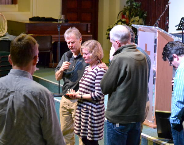 Praying together for the new Debt Advice Centre