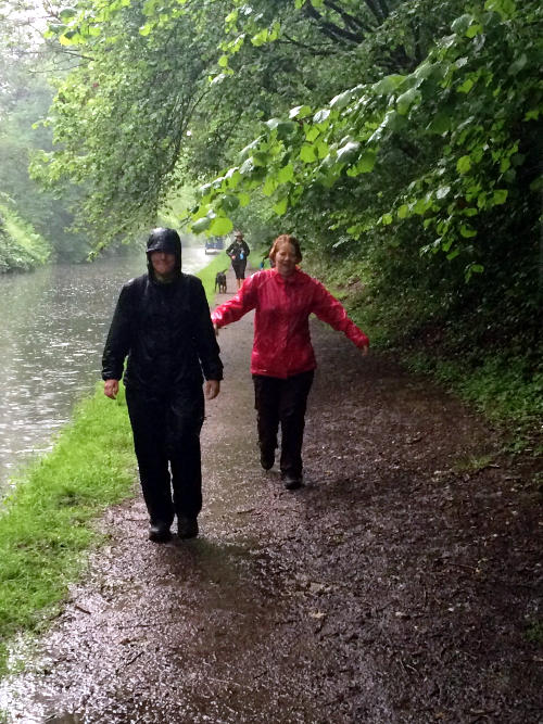 A very wet walk along the Stratford Canal
