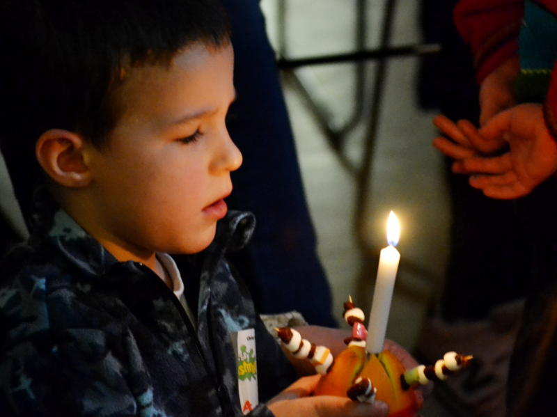A Christingle celebration at Christ Church