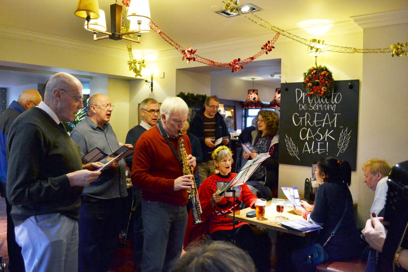 Playing and singing at the Selly Park Tavern