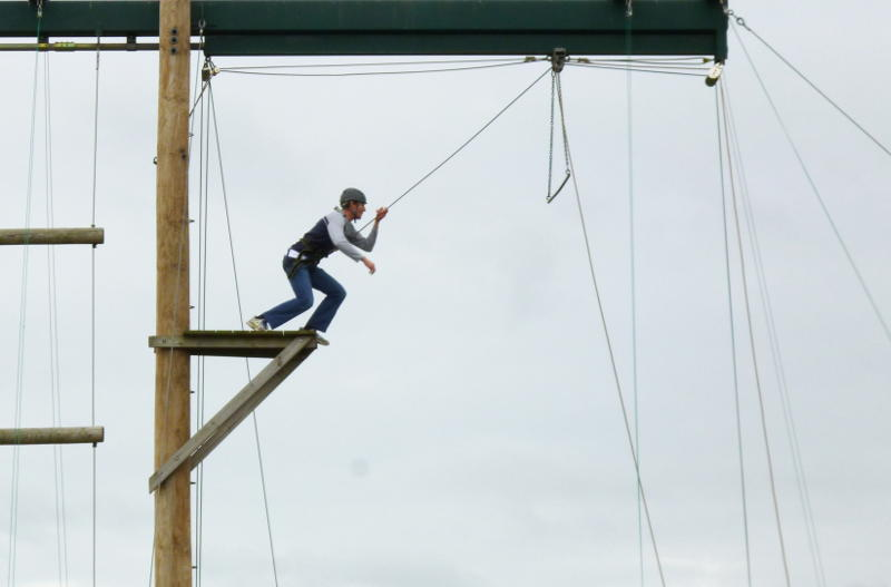 Stepping out in faith in the high ropes