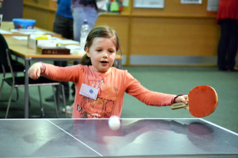 Table tennis, played by young and old