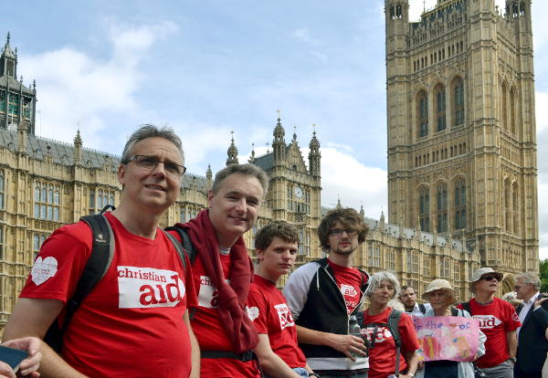 Geoff Lanham and Christ Church members at the Houses of Parliament