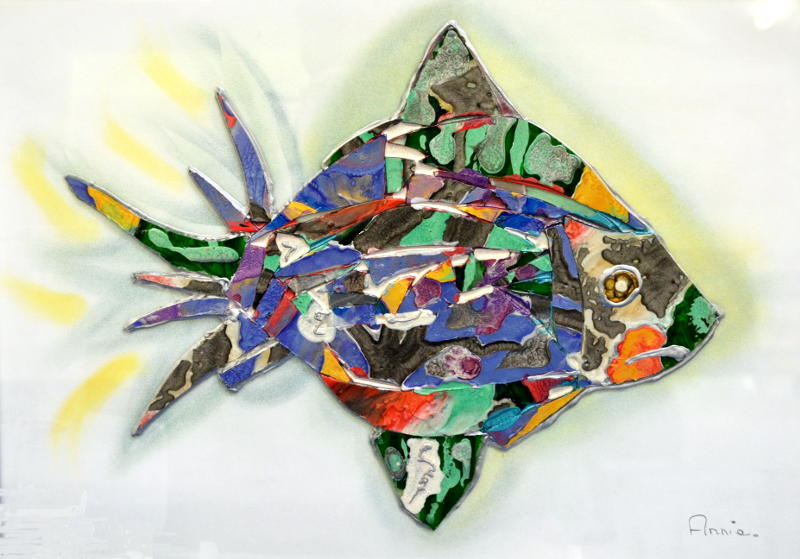A mosaic of a fish