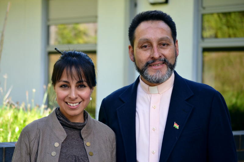 Pastor Walter Toro and Monica at Christ Church
