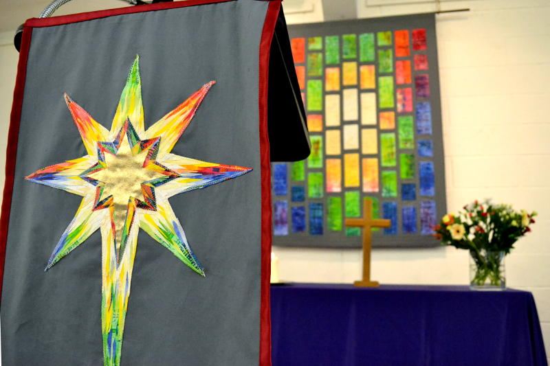 Lectern star and banner