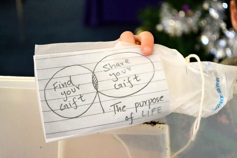 Find your gift, share your gift: the purpose of life