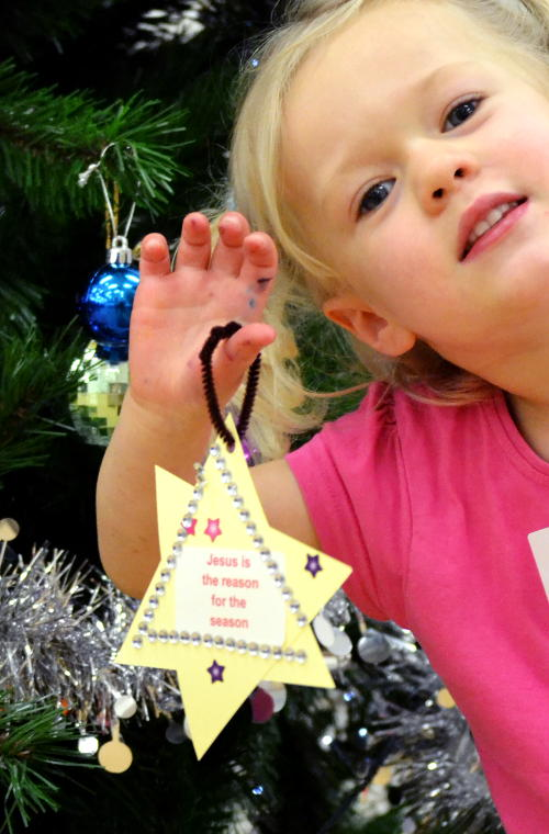 Message on a star: Jesus is the reason for the season
