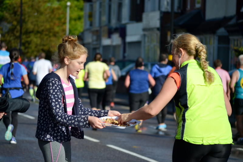 Food for a passing runner