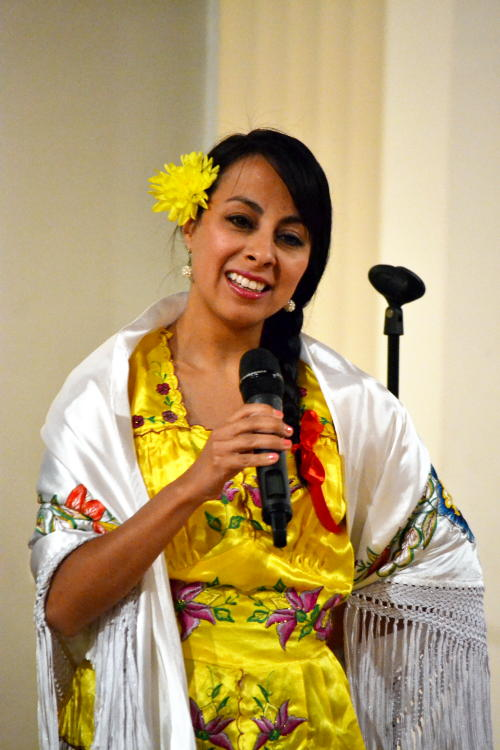 Monica from Tarija in regional costume