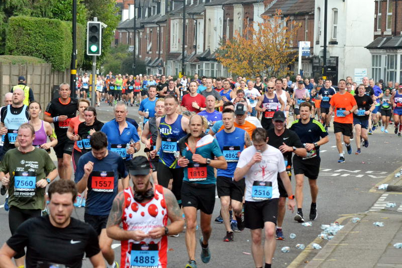 A crowd of runners on Pershore Road