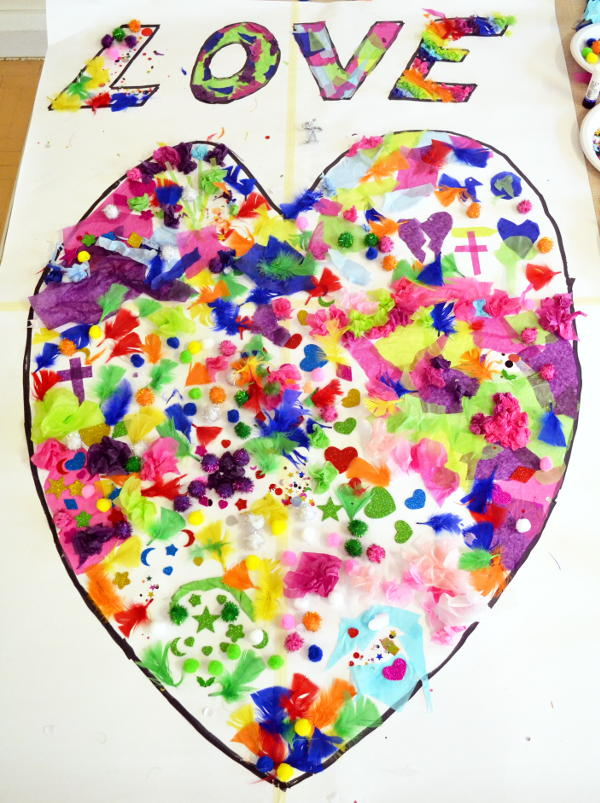 The love heart collage complete