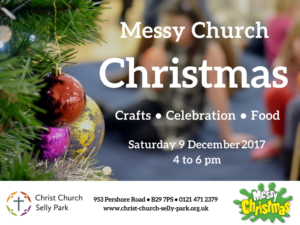 Advert for Christmas Messy Church
