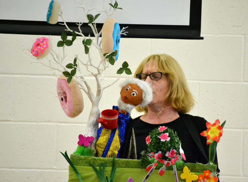 Maggie's puppet show at Messy Church
