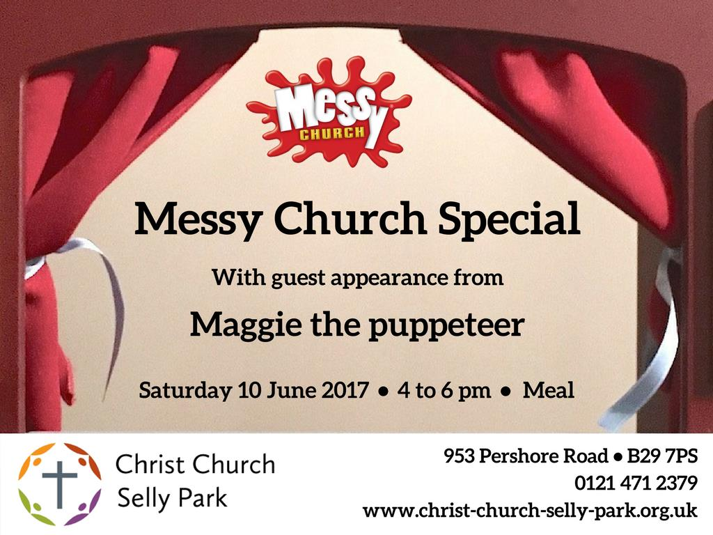 Advert for Messy Church Special