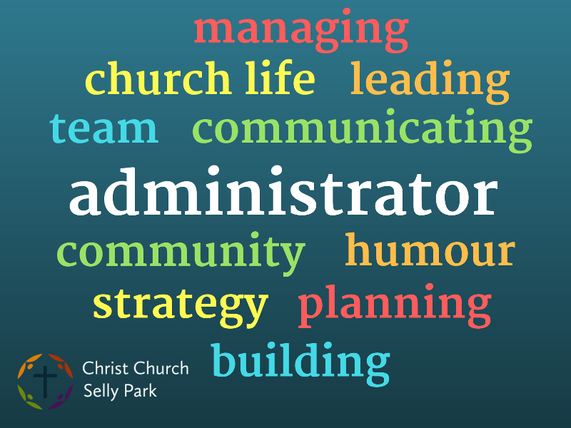 Administrator word cloud