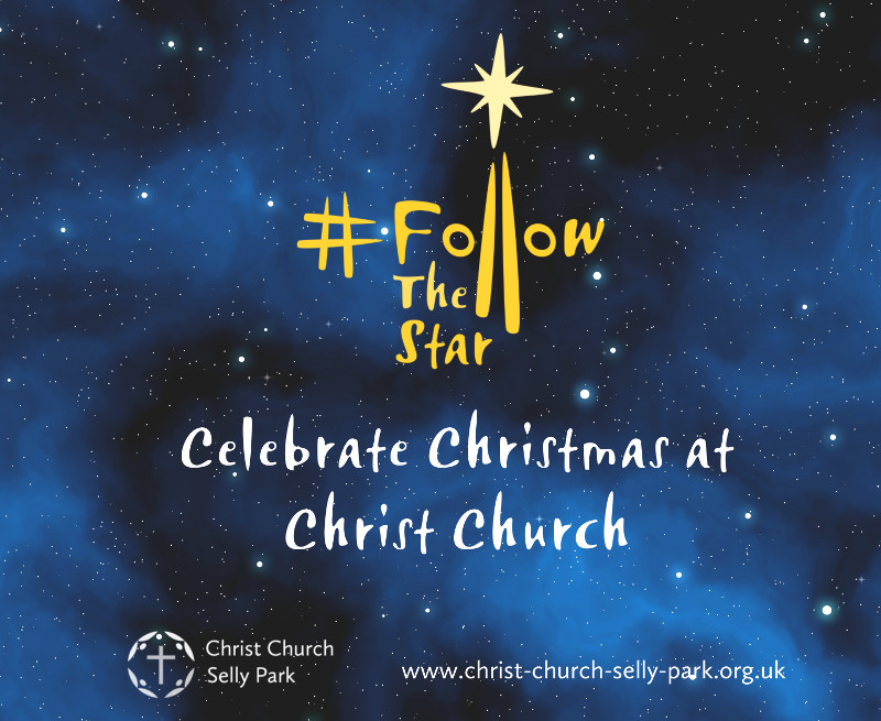 Christ Church banner for Christmas 2018