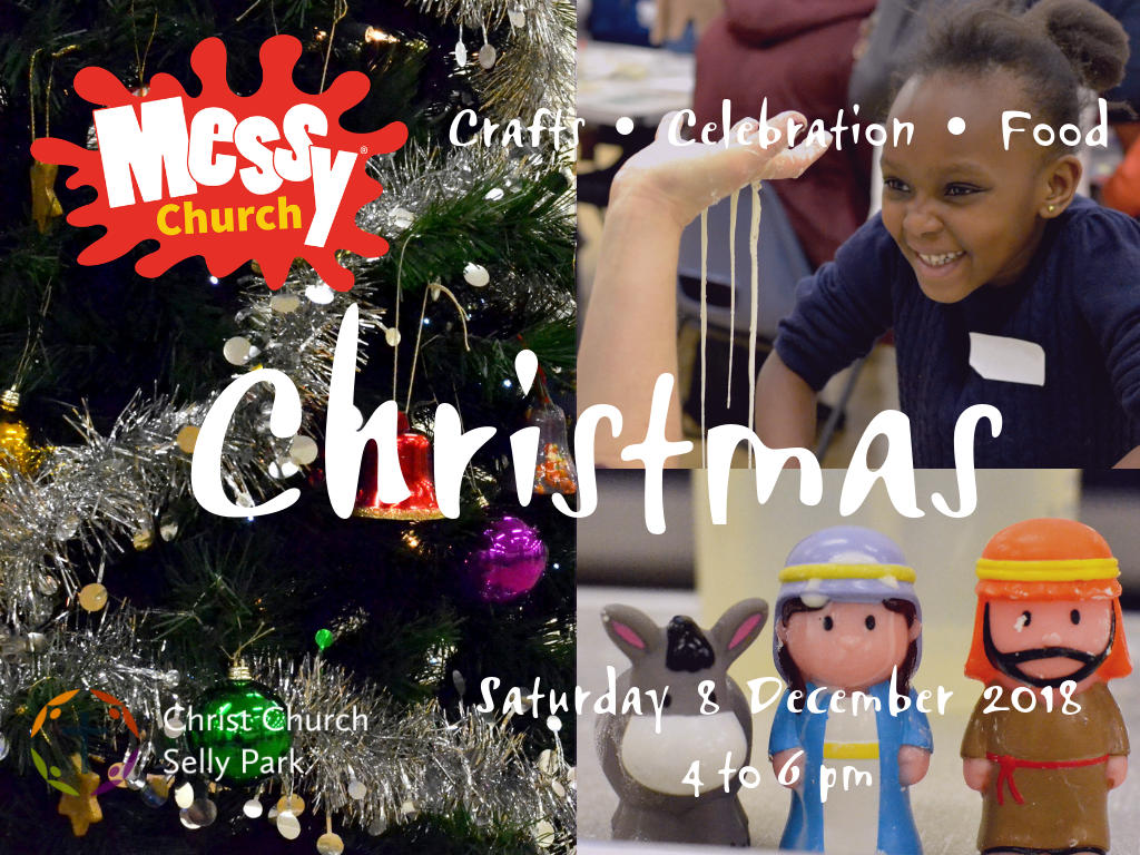 Christmas Messy Church, 4 - 6 pm on Saturday 8 December 2018