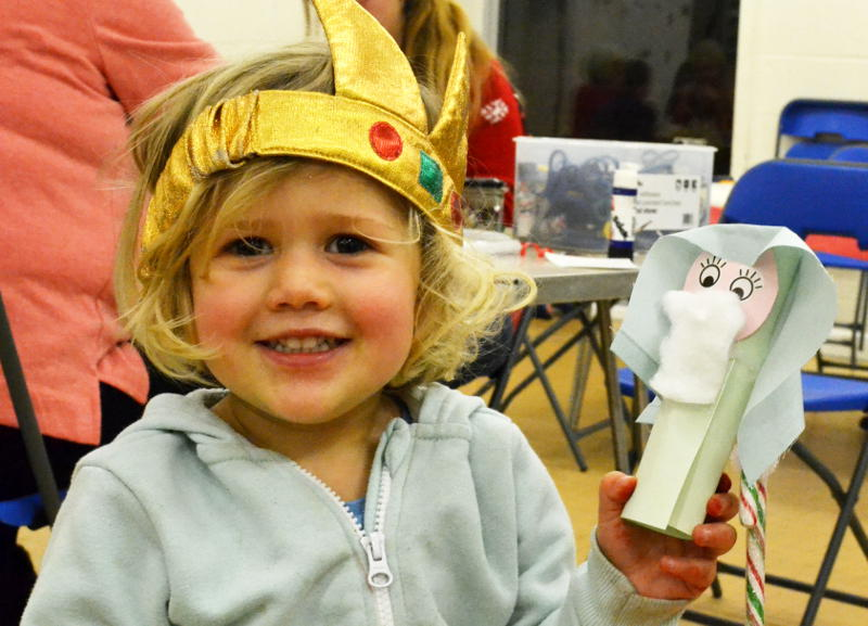 A shepherd made at Christmas Messy Church