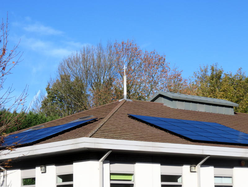 Solar panels on the Christ Church roof