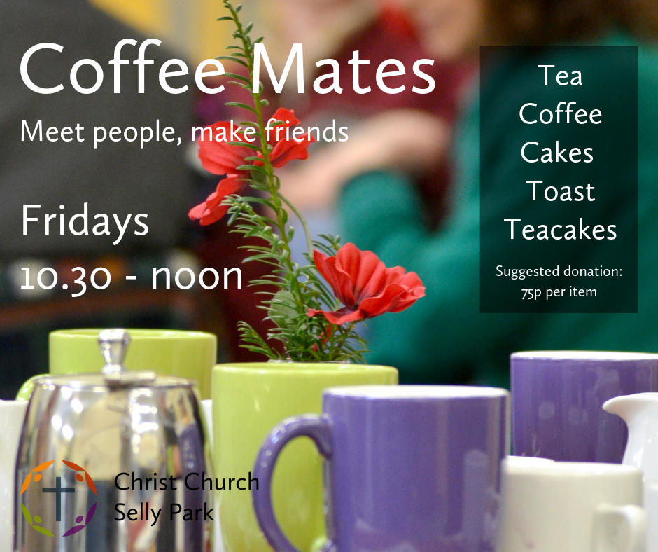 Graphic to publicise Coffee Mates