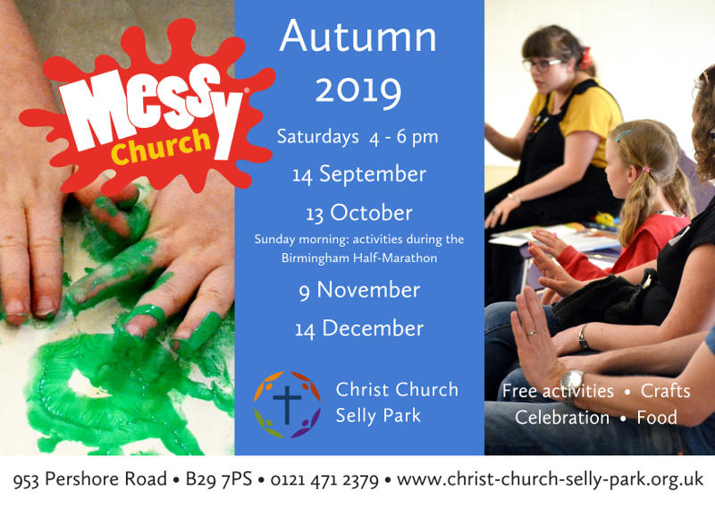 Messy Church: Saturday 14 September, 4 to 6 pm
