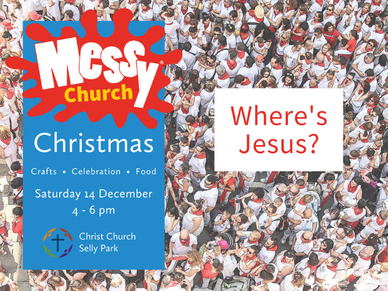 Christmas Messy Church: Saturday 14 December, 4 to 6 pm