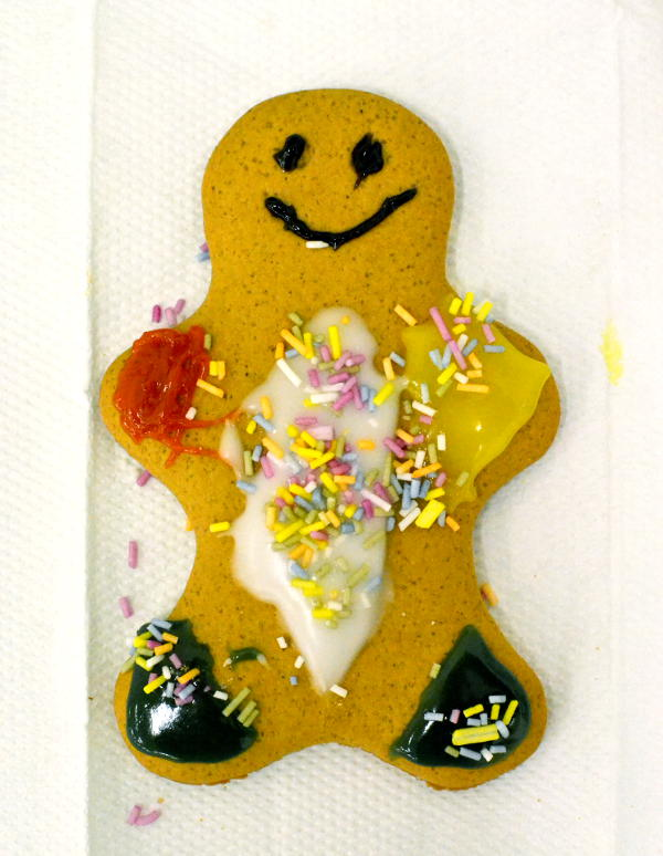 A decorated gingerbread man