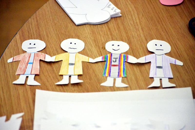 Paper cutouts of Joseph and some of his brothers