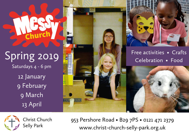 Messy Church: Saturday 9 March, 4 to 6 pm