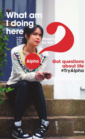 Alpha course poster: What am I doing here?