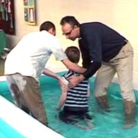 Baptism during an All Age service